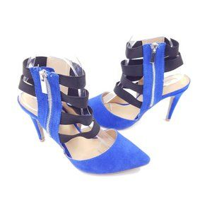 mark. Cage strappy side zip heel size 8